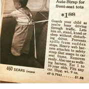 Car seat 1960's