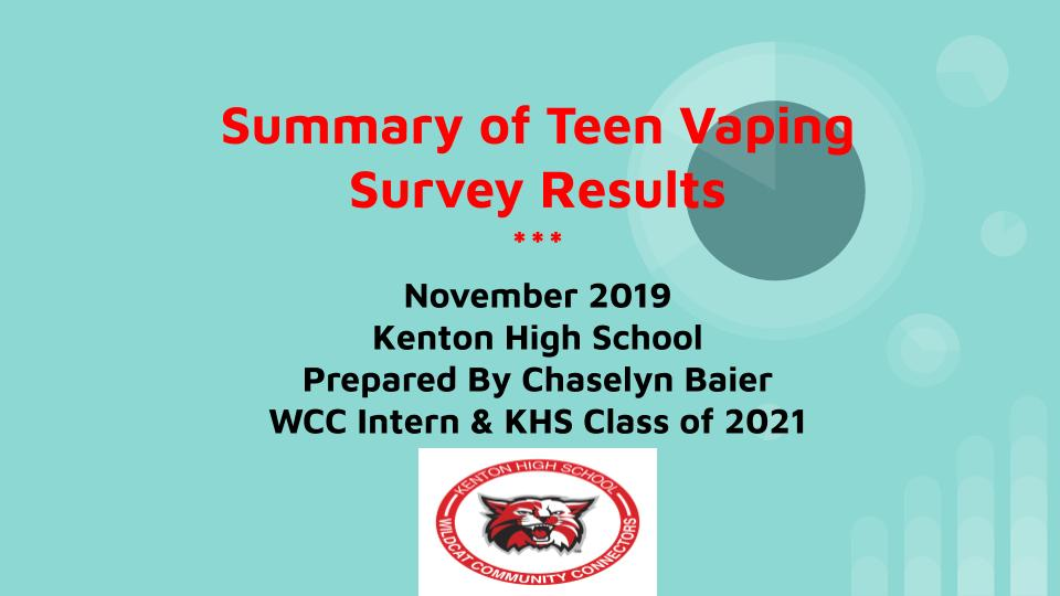 Vaping Survey Presentation by Chaselyn Baier (1)